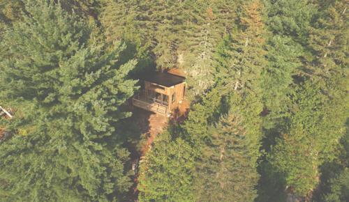 La cabana vue de dessus